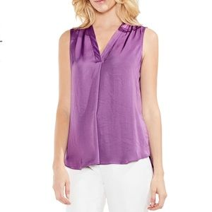 Rumpled Satin Blouse by VINCE CAMUTO